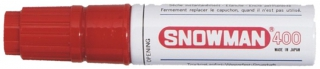 SNOWMAN Permanent Marker 400 red