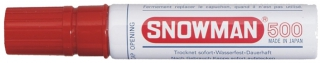 SNOWMAN Permanent Marker 500 rot
